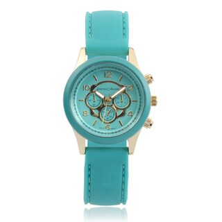 Journee Collection Round Face Silicone Band Watch