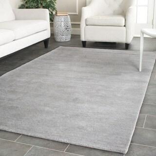 Safavieh Handmade Himalaya Solid Grey Wool Rug (11' x 15')