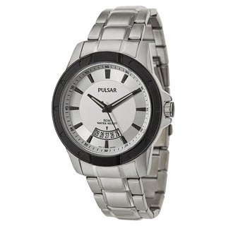 Pulsar Men's 'On The Go' Stainless Steel Quartz Watch