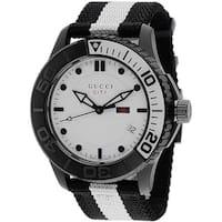 Gucci Men's YA126243 G-Timeless Nylon Strap Watch