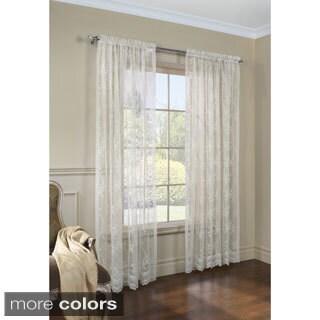 Mona Lisa Jacquard Lace Curtain Panel Pair