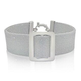 Gioelli Sterling Silver Italian High Polish Mesh Designer Bracelet
