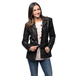 NuBorn Women's 'Amelia' Leather Blazer|https://ak1.ostkcdn.com/images/products/9583530/P16769510.jpg?impolicy=medium