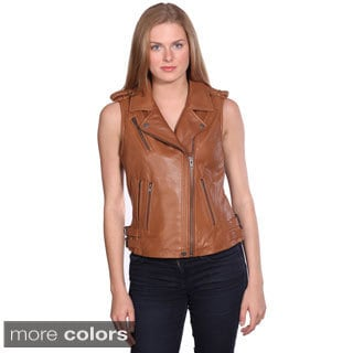 NuBorn Women's 'London' Leather Vest