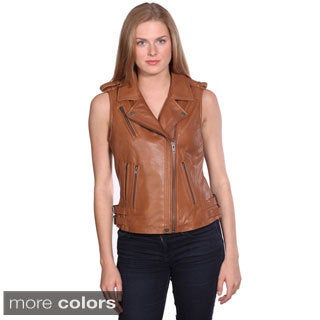 NuBorn Women's 'London' Leather Vest