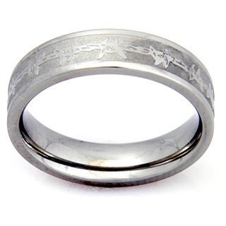 Women's Barbed Wire Stainless Steel Ring