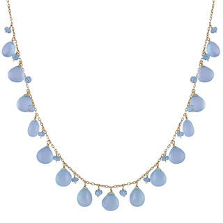 14k Yellow Gold Apatite and Dyed Blue Chalcedony Necklace|https://ak1.ostkcdn.com/images/products/9583552/P16769528.jpg?impolicy=medium