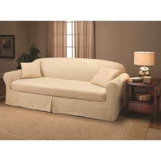 Suede 2-piece Sofa Slipcover
