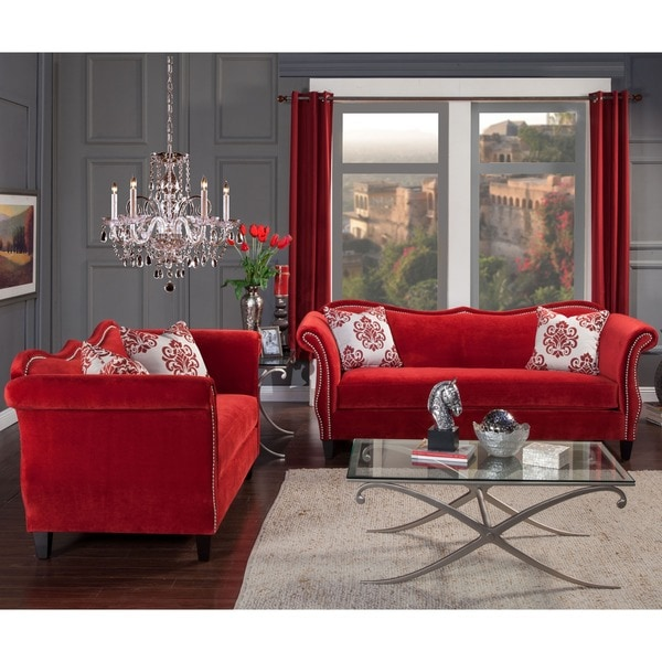 Furniture of america othello 2 piece sofa set free for Furniture of america furniture