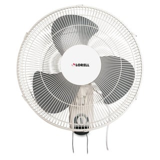 Lorell Wall Mount Fan Metal White