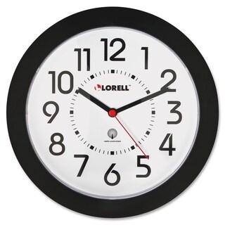 Lorell Black Radio Controlled Wall Clock