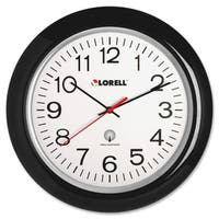 Lorell Radio Black Controlled Wall Clock