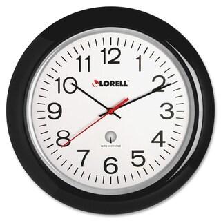 Lorell Radio Black Controlled Wall Clock