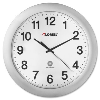 Lorell Radio Controlled Wall Clock Silver