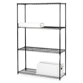 Lorell Black Starter Shelving Unit