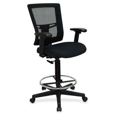 Lorell Breathable Mesh Drafting Stool - Black
