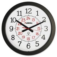Lorell Radio Controlled Wall Clock Black