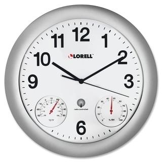 Lorell Analog Temperature/ Humidity Wall Clock