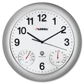 Lorell Analog Temperature/ Humidity Wall Clock