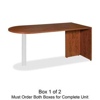 Lorell Essentials Peninsula Desk Box 1/ 2 Fabric