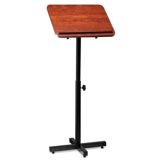 Lorell Tilt Platform Adjustable Floor Lectern - Cherry