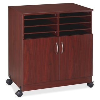 Lorell Multipurpose Stand with Shelves in Mahogany