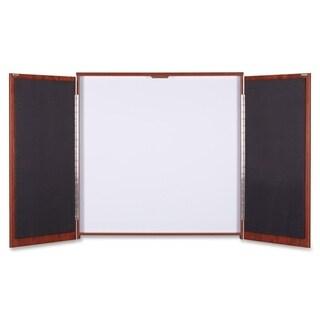 Lorell Presentation Cabinet Cherry Melamine/ Fabric