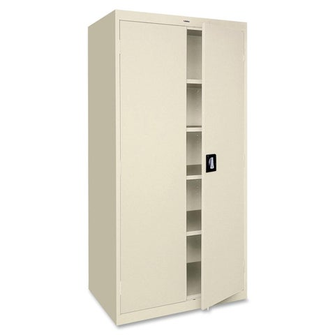 Lorell Fortress Series Putty 5-shelf Storage Cabinet