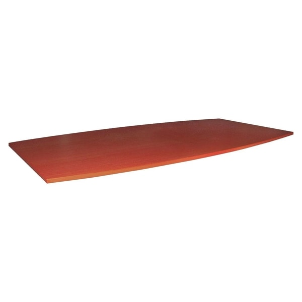 Lorell Essentials Boat Shaped Conference Table Top Fabric Cherry