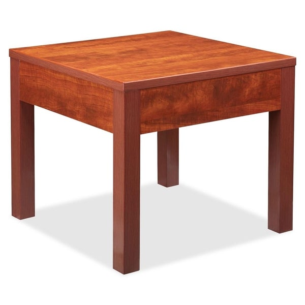 Lorell occasional cherry corner table free shipping today lorell occasional cherry corner table watchthetrailerfo