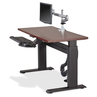 Lorell 48-inch Mahogany Height-adjustable Workstation Tabletop