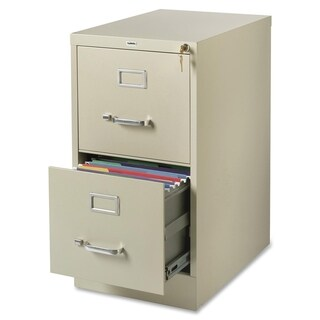 Lorell Putty 2-drawer Commercial-grade 28-inch Vertical File