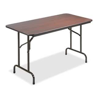 Contemporary folding tables for less overstock lorell mahogany 24 x 48 inch economy folding table watchthetrailerfo