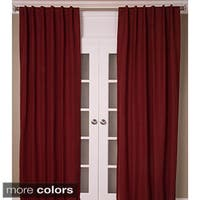 Cotton Linen Blend Solid Color Curtain Panel