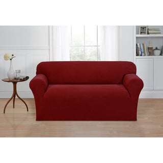 Basketweave Stretch Loveseat Slipcover