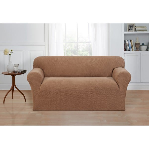 Basketweave stretch loveseat slipcover free shipping today 16769571 Loveseat stretch slipcovers