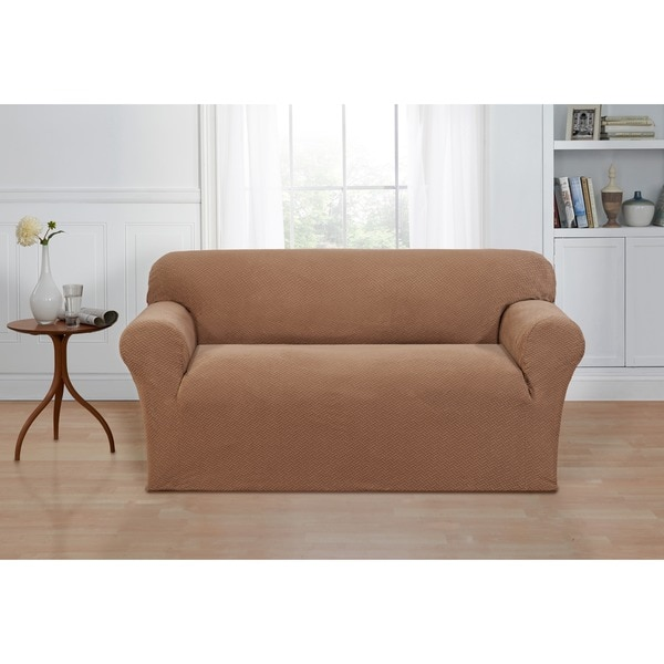 Basketweave Stretch Loveseat Slipcover Free Shipping Today 16769571