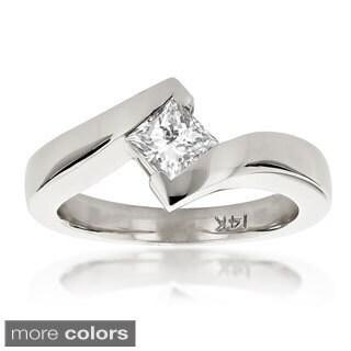 Luxurman 14k Gold 2/5ct TDW Diamond Solitaire Engagement Ring