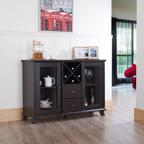 Furniture of America Synthie Cappuccino Multi-storage Dining Buffet
