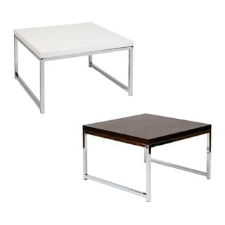 Wall Street Espresso, White Accent Corner Table