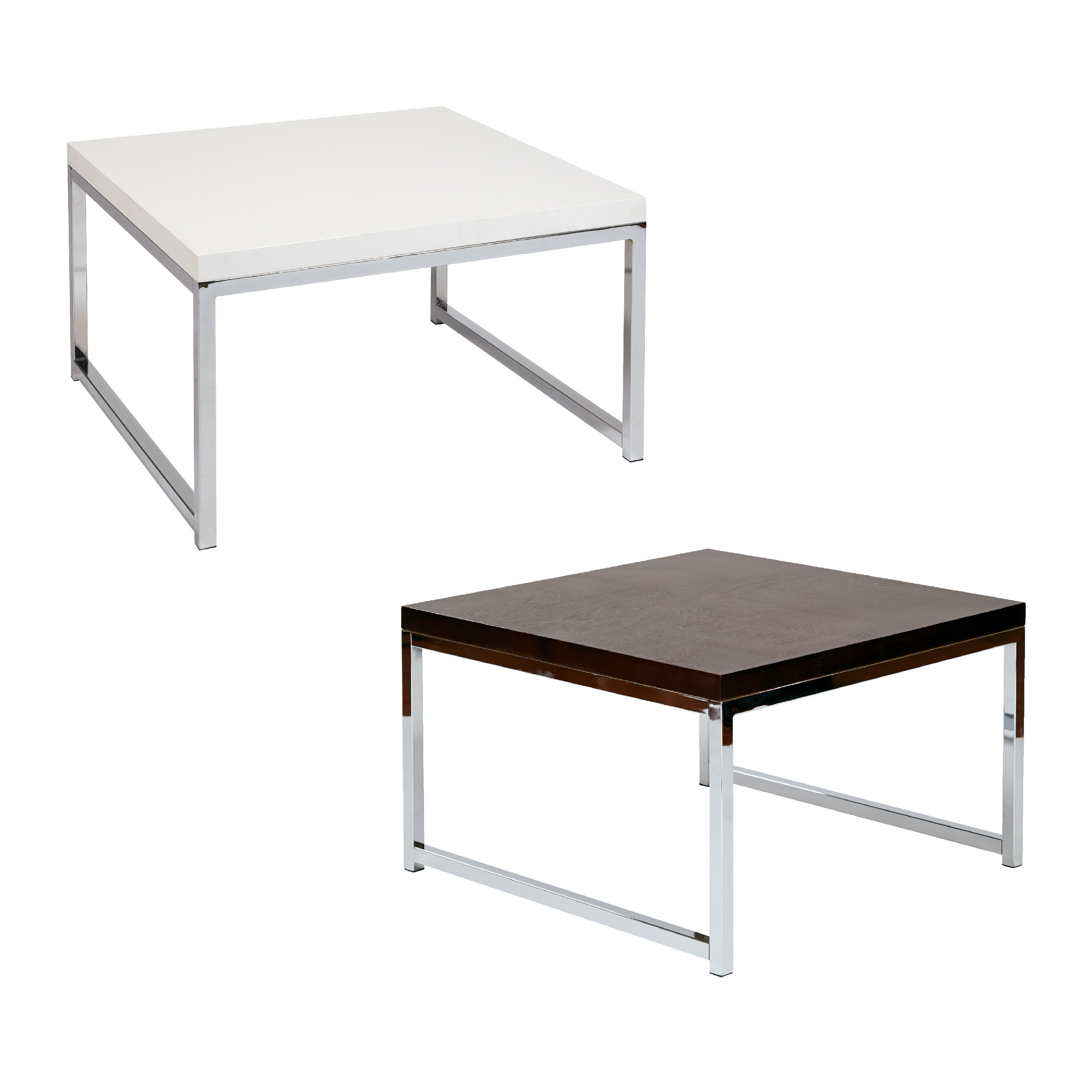 Avenue six wall street 28 accent table in chrome espresso wst 17 picture 5 of 6 geotapseo Choice Image