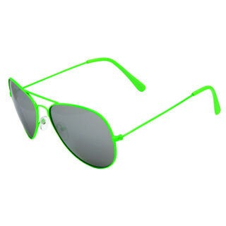 Piranha Unisex Rockstar Green Aviator Sunglasses