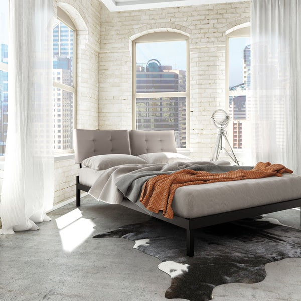 54 Best Images About Complete Bedroom Set Ups On Pinterest: Amisco Delaney Full Size Metal Platform Bed 54-inches With