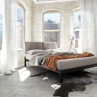Amisco Delaney Full Size Metal Platform Bed 54-inches