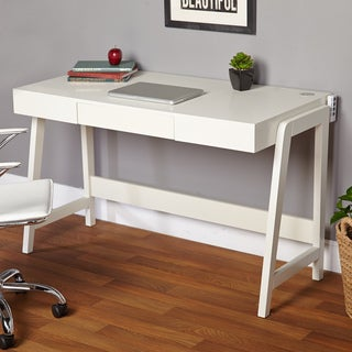 Simple Living Modernist Rectangular Tech Integrated Desk (2 options available)