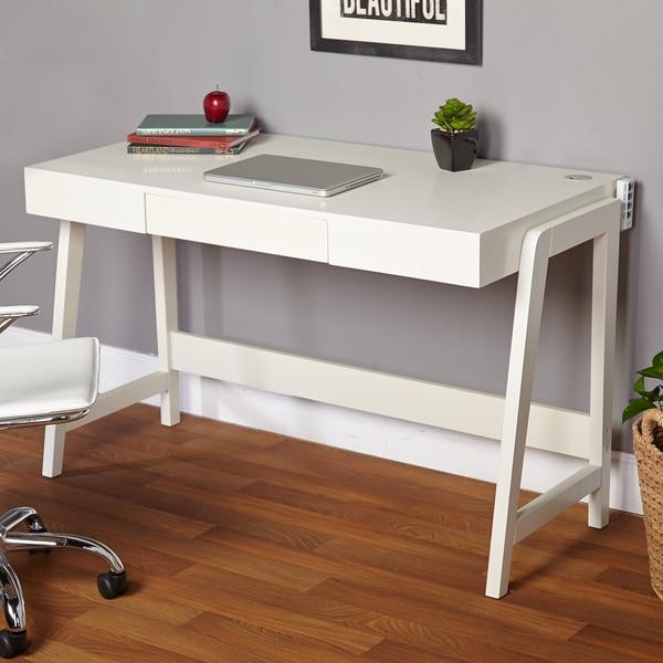 Simple Living Modernist Rectangular Tech Integrated Desk. Opens flyout.