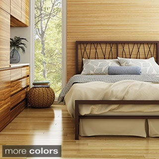 Amisco Ivy Queen Size Metal Headboard & Footboard 60-inch