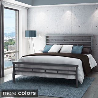Amisco Highway 60-inch Queen-size Metal Headboard and Footboard