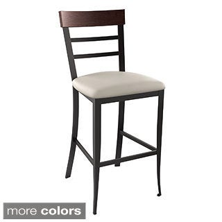Amisco Cate Bar Metal Stool 30-inch
