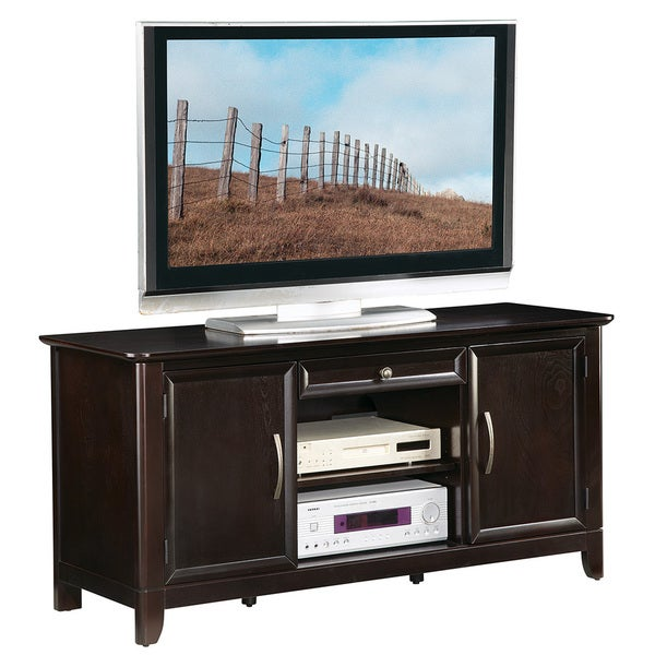 54 inch claremont espresso colored tv stand - Colored Tv Stands